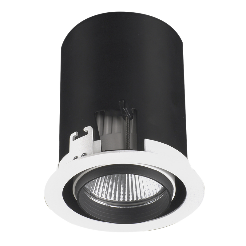 Pop-Eye S9601. Directional and 355 degree rotable LED shop light. changeable multi-reflector system