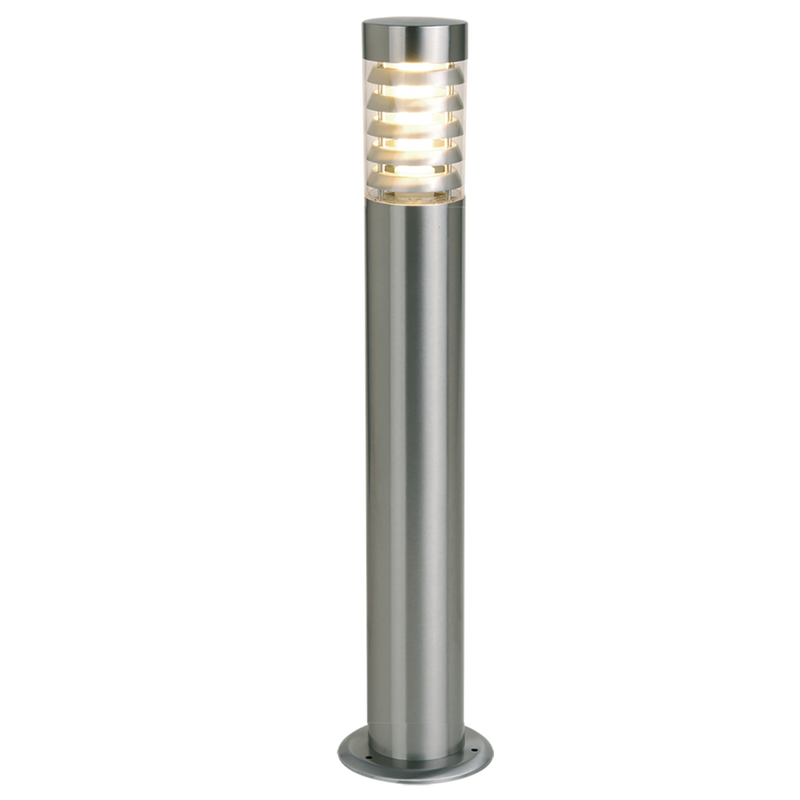 SE7086/100: SWAN External LED stainless steel bollard post. E27 Lamp. 240v.  Clear acrylic diffuser. SAL Lighting.