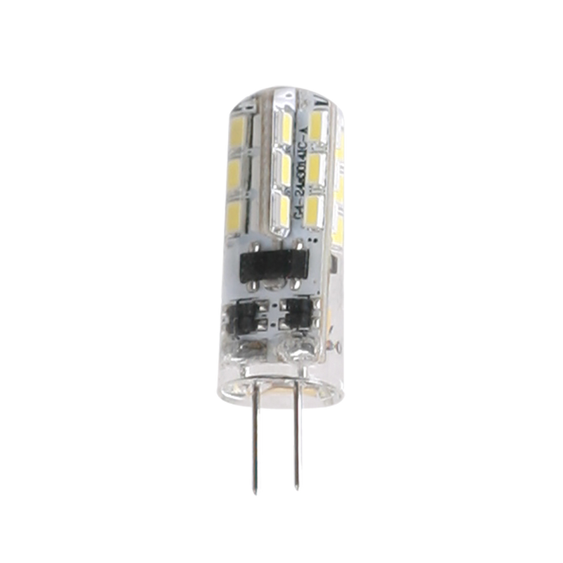 G4 SERIES G4L15. 1.5 watt LED G4 base Energy efficient lamp. Transparent silicone body 12V AC or DC driver required. Colour temperatures 3000K, 6000K,