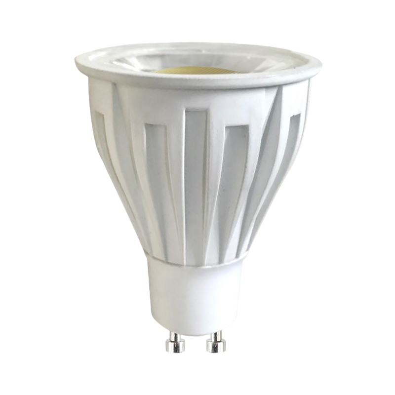 High Efficiency dimmable 9 watt GU10 LED lamps. GU10LA750