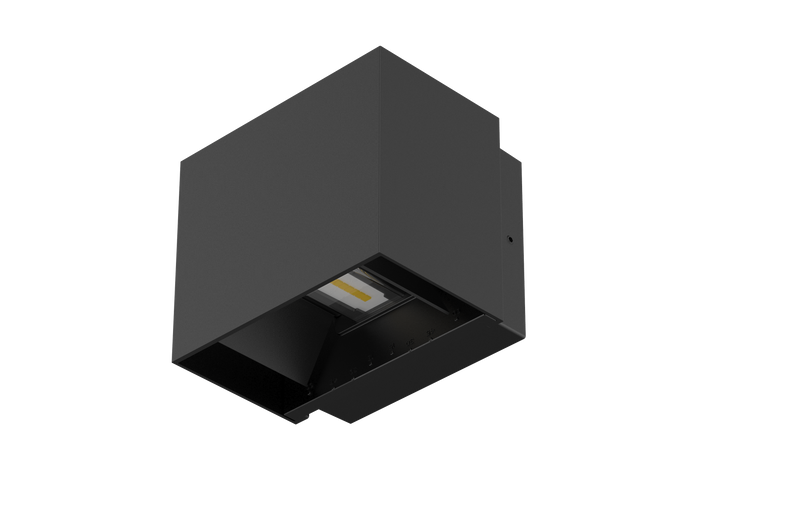 CUBE II S9320: LED 10 watt IP65 surface mounted CUBE wall luminaire. Black or White. Warm White or Day Light option.