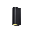 ETON SE7134BK GU10: IP54, GU10 lamp base (UP/DOWN) architectural wall luminaire. IP54. Black finish