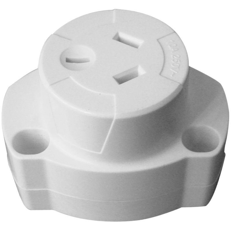 QUICK CONNECT SURFACE SOCKET ESS101. 240V / 10A rated