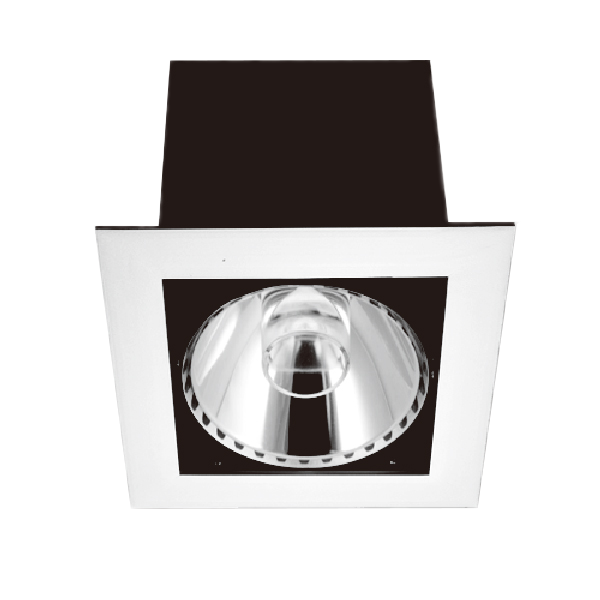MANSFIELD S9530. Square and Rectangular profile AR111 recessed downlights. Changeable multi-reflector system