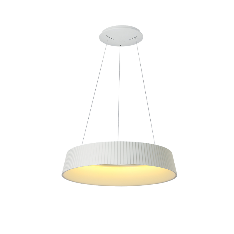SPL3100/64: Designer LED pendant luminaire. 45W LED PENDANT 1.2M. Warm White. White finish. SAL Lighting