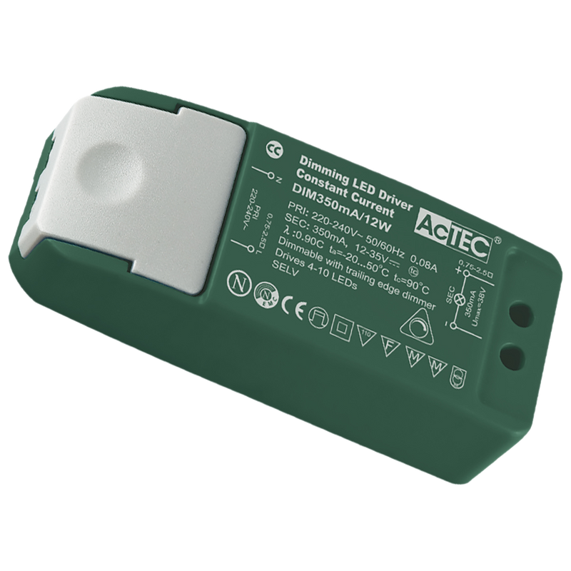 PLUTO 350MA- dimmable constant current LED drivers, 12 watt 18 watt