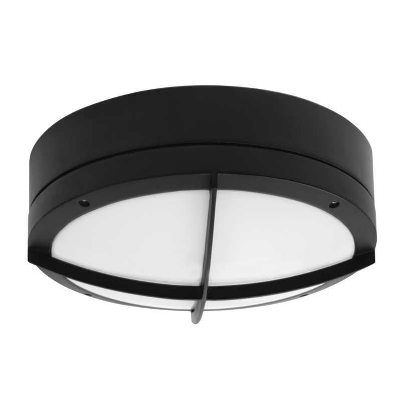 COOPER SE7082L: IP65, 16 watt LED commercial bunker luminaire, IK10 rated. Silver or Black. Warm White and Day Light options