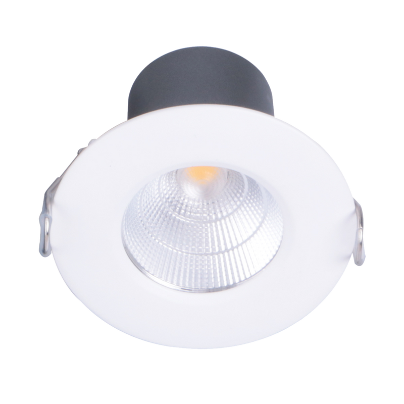 ECOSTAR II FIXED S9145. Dimmable fixed 9 watt LED downlight. Durable die-cast aluminium body. Changeable multi-reflector system. Warm White,  Cool White and Day Light colour