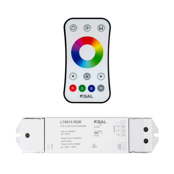 LT8915RGB- LED STRIP CIRCUIT & REMOTE CONTROL, RGB colour, Four flashing modes