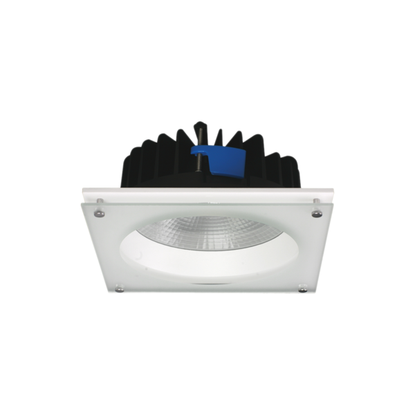 S9658WW WH SQ- ROUND AND SQUARE PROFILE IP54 LED downlights. die-cast aluminium body. white or black powder coat finish. 50 watt downlight