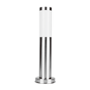 SE7007 SLS: Murray external bollard post. E27 Stainless Steel finish. 116(W) x 450(H)