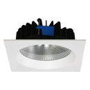 UNI LED S9656- 25 watt ROUND AND SQUARE PROFILE IP54 LED downlights. white powder coat finish