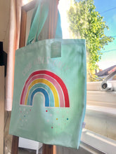 Load image into Gallery viewer, Rainbow 'Good Vibes Only' Tote