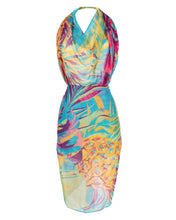 Load image into Gallery viewer, Beautiful sarong ideal for a day at the beach or around the pool.  Comes with a styling guide showing 5 ways to wear and in a lovely gift box and bag.  Size: 180cm x 105cm  100% polyester