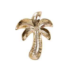 Gold palm tree trinket dish.  Size - L12 x H15 cm; Dia: 12 cm