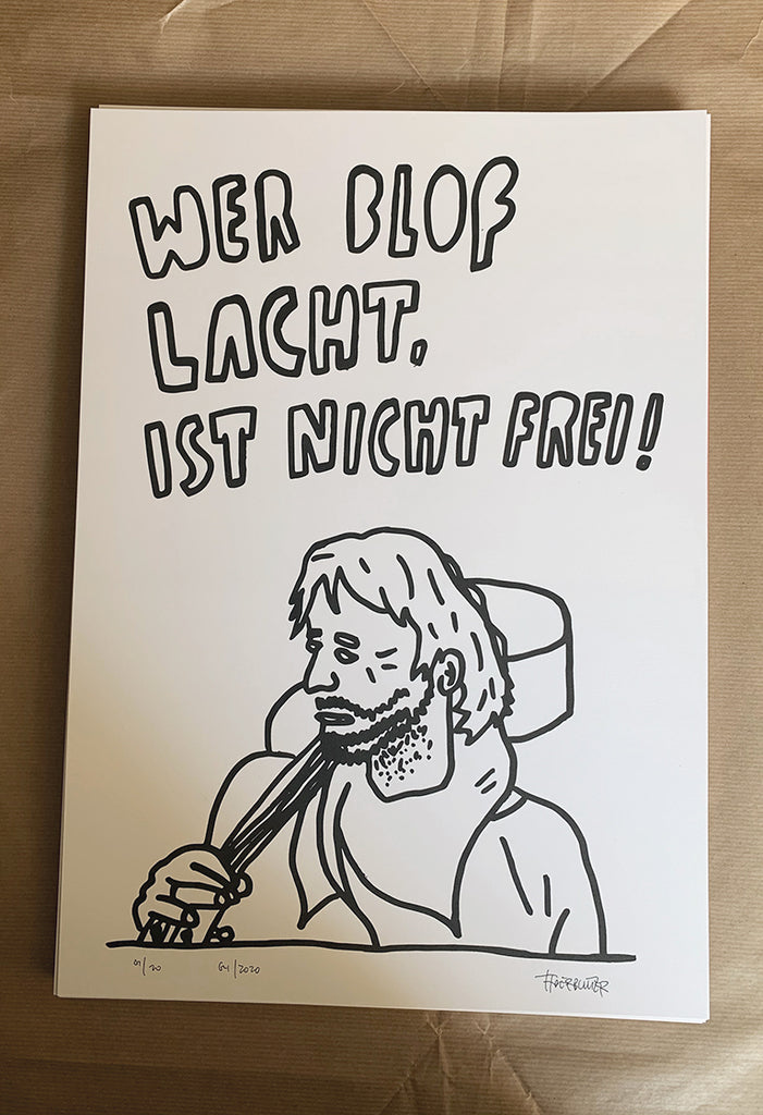 """Wer Bloß Lacht"" mit Illustration Risoprint A3"