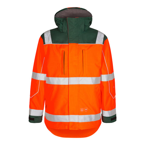 Safety EN20471 Pilot Skaljakke Orange/Grøn