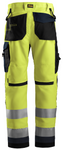 AllroundWork, High-Vis arbejdsbuks+, klasse 2 High Visibility Yellow - Navy