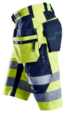 FlexiWork, High-Vis shorts+ med hylsterlommer, klasse 1