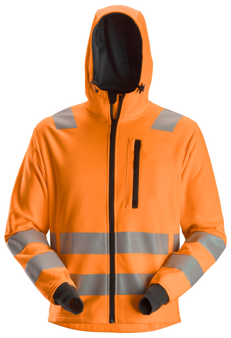 AllroundWork, High-Vis fleece hættetrøje, klasse 2/3
