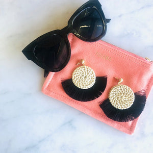 Chrissy Tassel Earrings - Dusky Pink