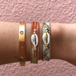 Koh Koh Shell Bracelets - Orange Multi