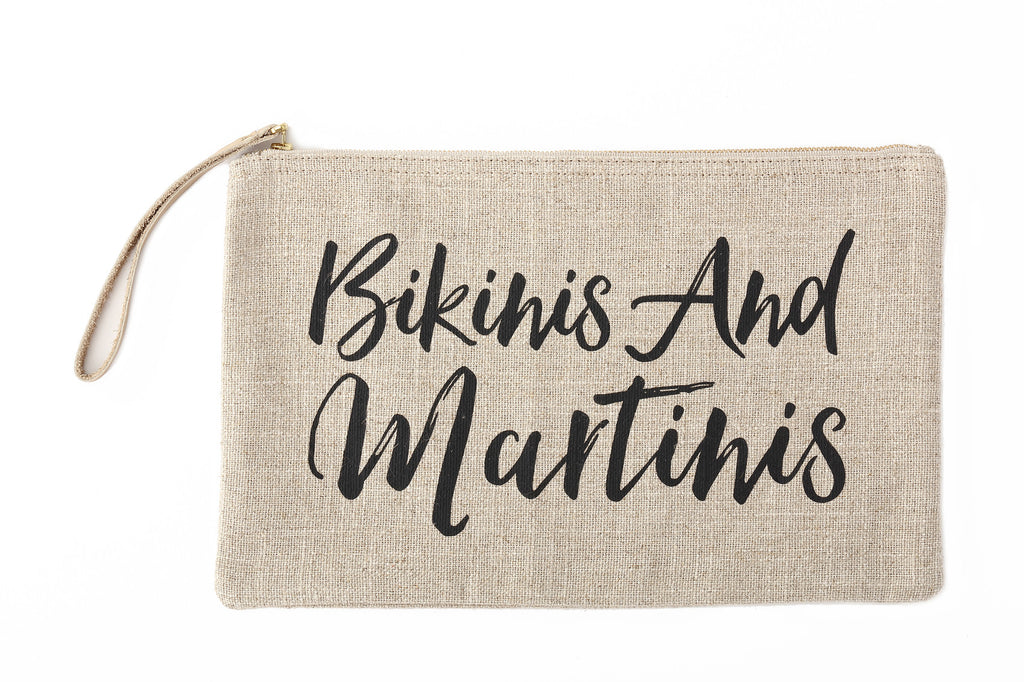 Island Vibes Clutch Bag- Bikinis and Martinis
