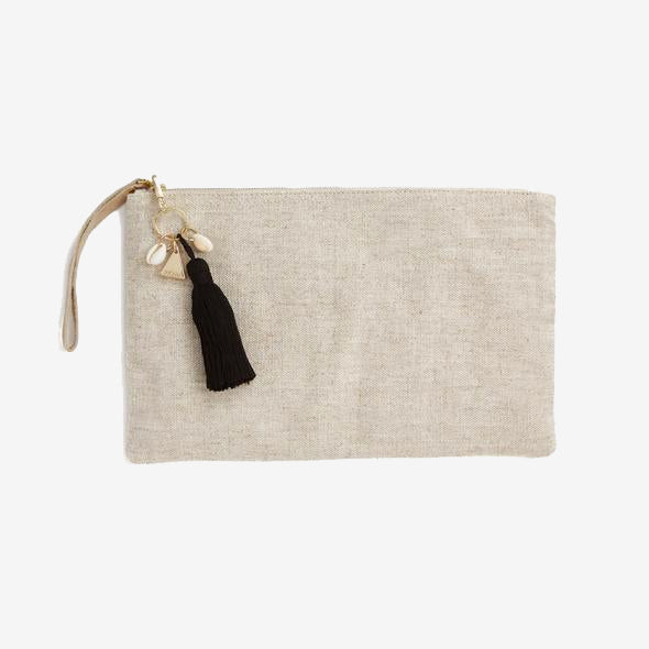 Island Vibes Tassel Clutch Bag