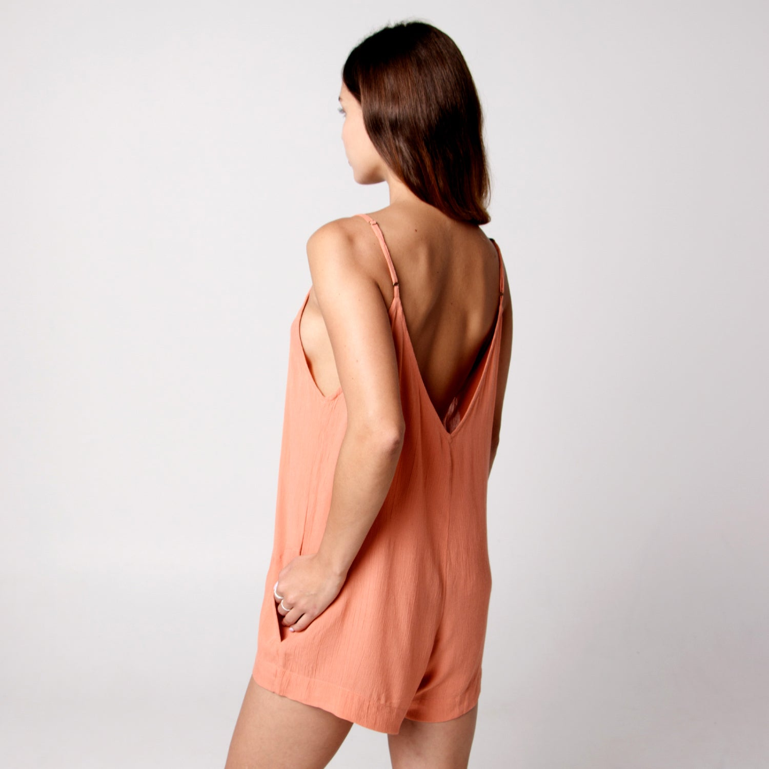 Java Java Playsuit - Coral Pink