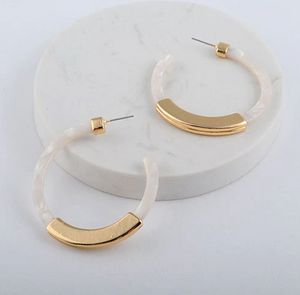 Romy Earrings - Ice White