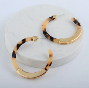 Romy Earrings - Tortoise Shell