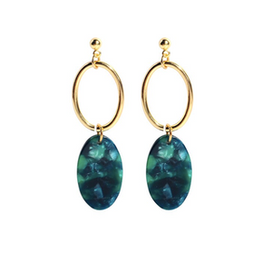Nadia Earrings - Emerald Green