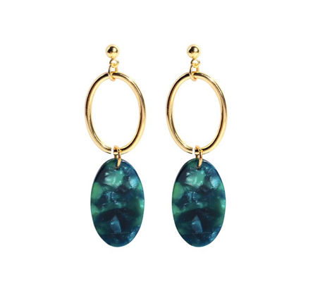 Nadia Earrings - Tortoise