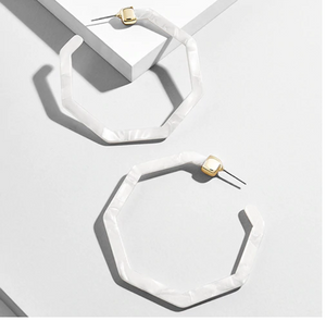 Karlie Earrings - Ice White
