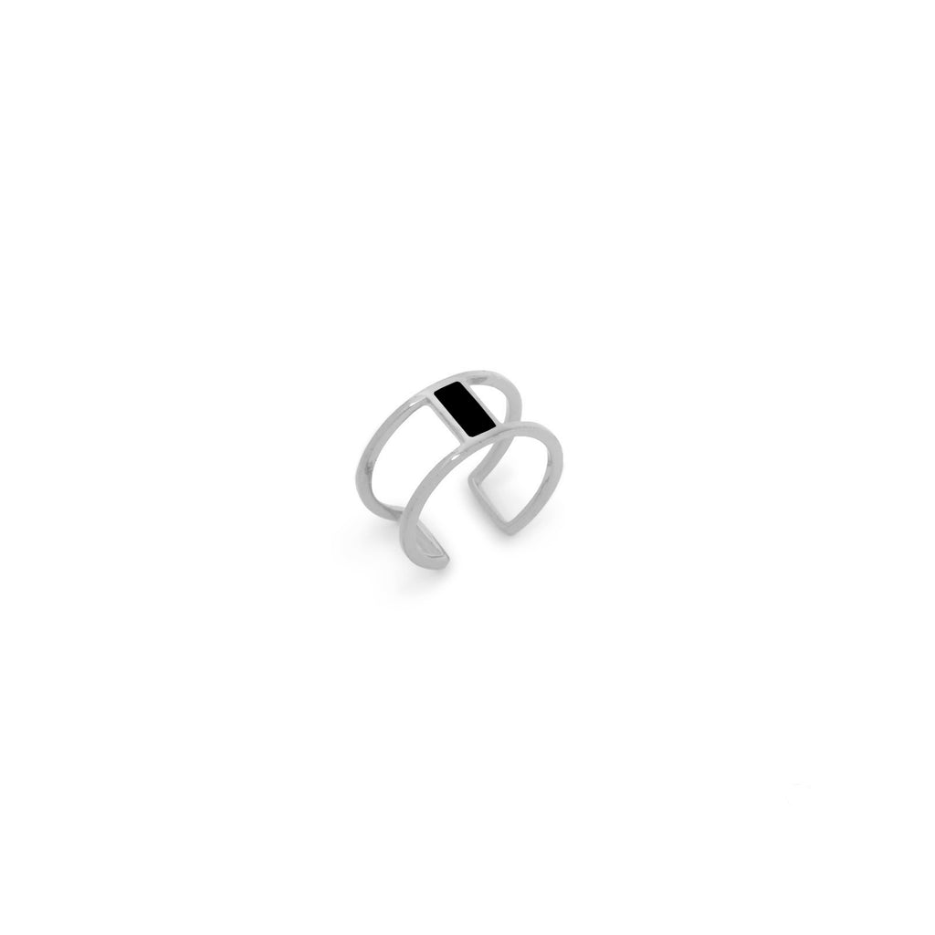 Yi Silver Ring - Black