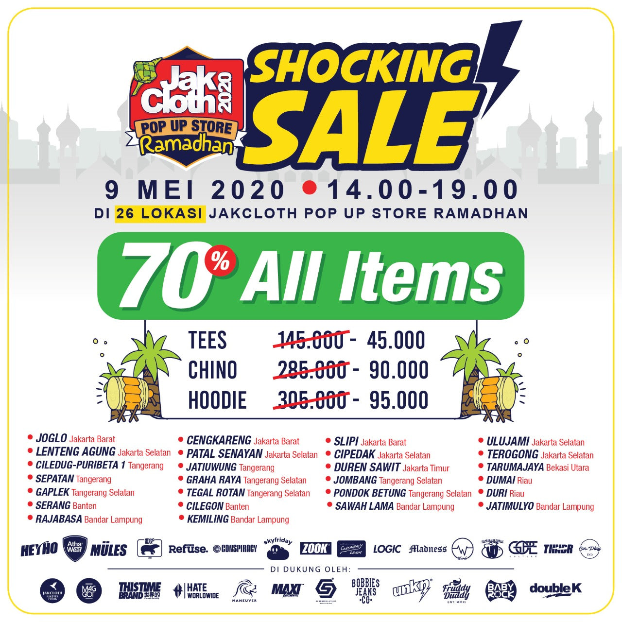 Jakcloth Pop Up Store Shocking Sale Up To 70%!!!