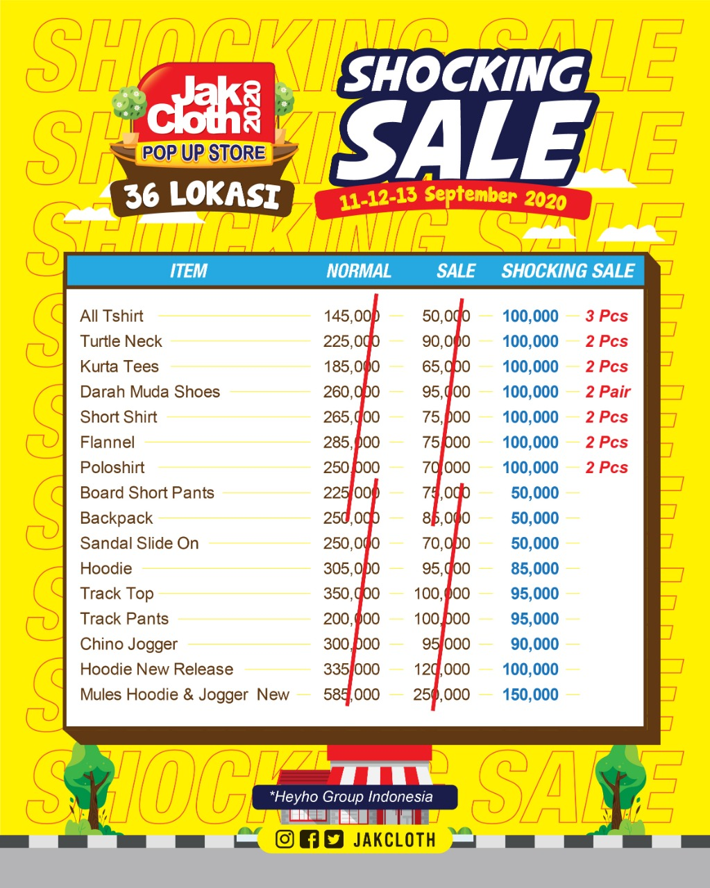 SHOCKING SALE IS BACK! DISELURUH JAKCLOTH STORE & POP UP STORE