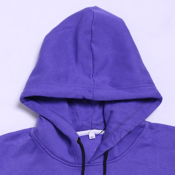 PURPLE IN BLACK HOOD