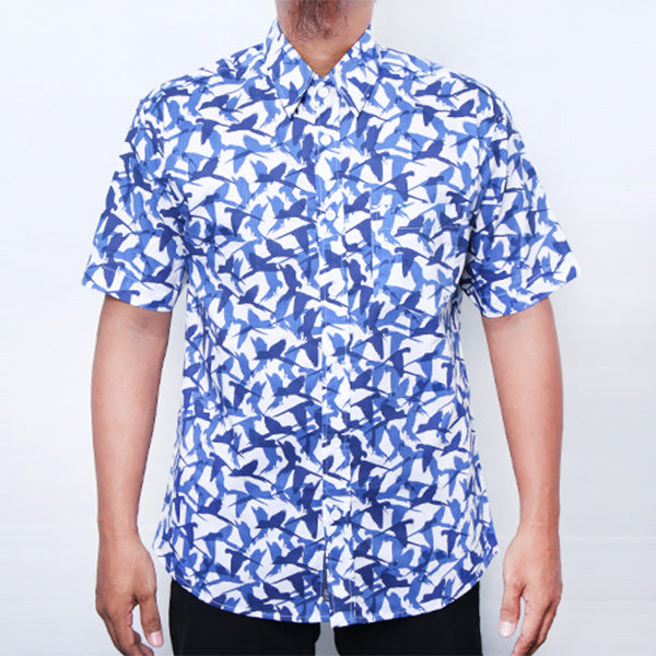BABY ROCK KEMEJA BLUE PRINT SHIRT Default