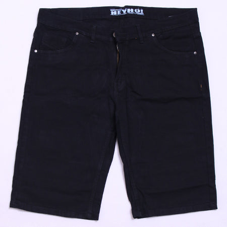BLACK SHORT DENIM