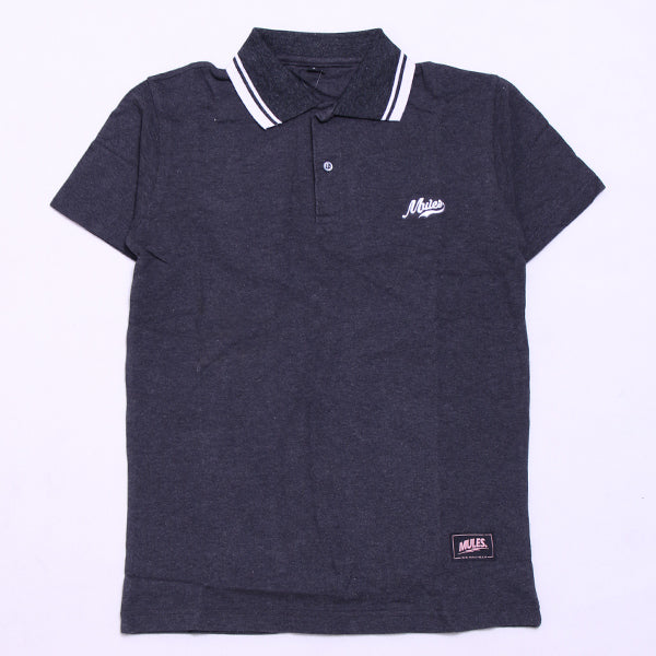 POLO SHIRT BASE FONT POLO GREY