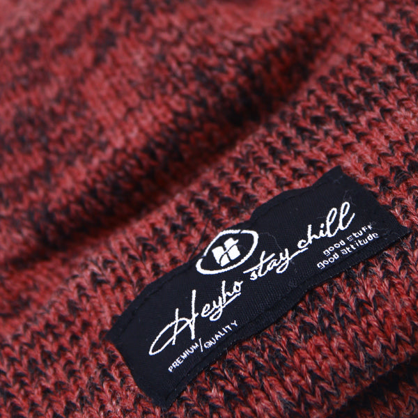 HEYHO Stay Chill Multicolour Beanie Maroon