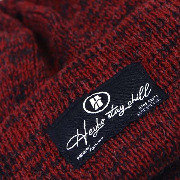 HEYHO Stay Chill Multicolour Beanie Red