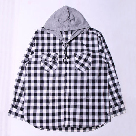 BLACK WHITE HD FLANNEL