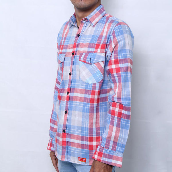 BLUE PINK FLANNEL