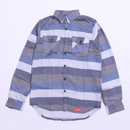 KEMEJA FLANNEL BLUE MISTY NAVY