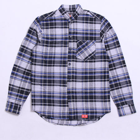 KEMEJA FLANNEL MISTY BLACK IN BLUE FLAN