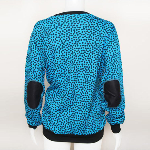 SWEATER BLUE POLKA BLACK POSTCLOTHING Default