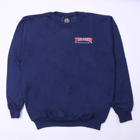 Embroidered Outline Crewneck Default