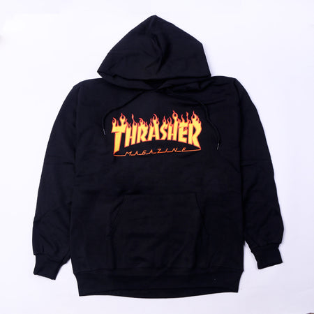 Thrasher Flame Logo Hood Black Default